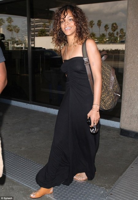 Rihanna/ LAX/ photo courtesy Daily Mail UK