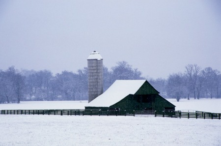 Franklin Rd. snowy barn