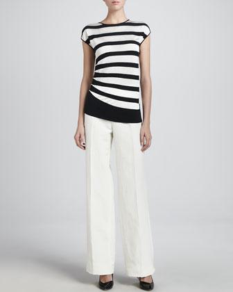 Wide leg linen pant/ Armani Collezioni Neiman Marcus/ $173 sale