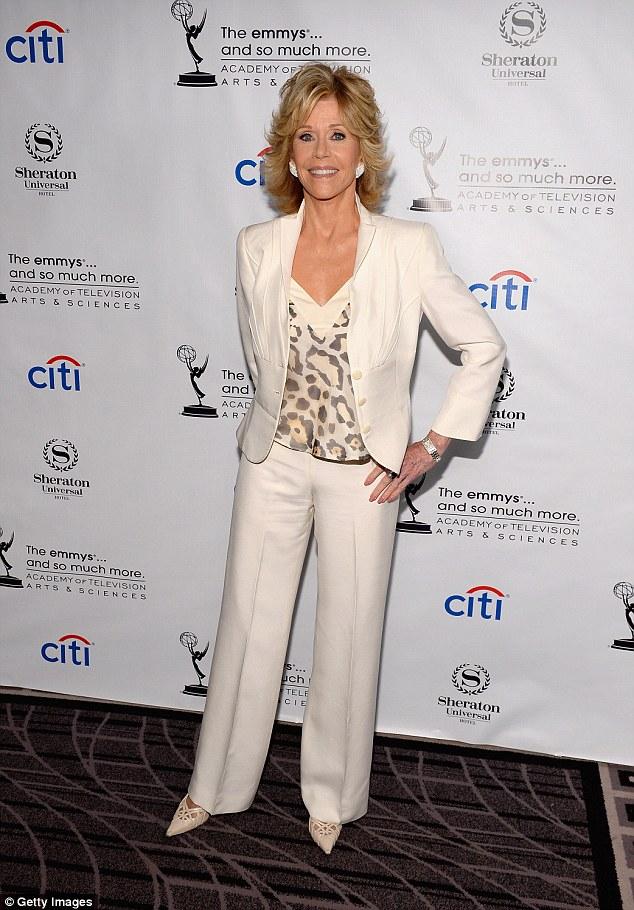 Jane Fonda looking fabulous.