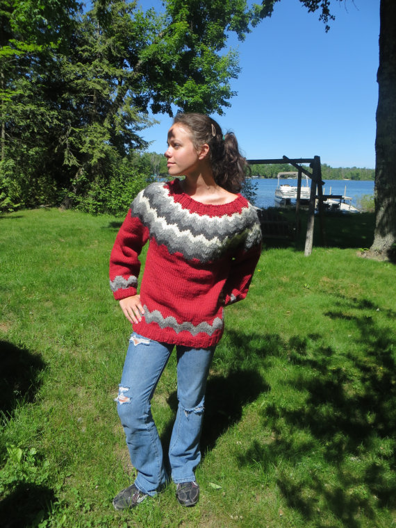 Wool and Alpaca Icelandic sweater/ $190.00/ Etsy